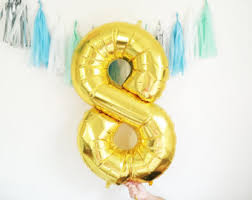 number balloons delivered mini number balloon inflated with cup stick gold foil