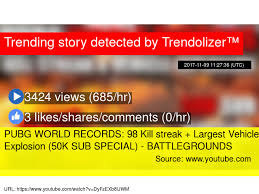 pubg 0 for url pubg world records 98 kill streak largest vehicle explosion