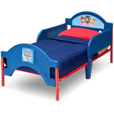 Lit Bed Up Delta Children Paw Patrol Plastic Toddler Bed Walmart Com