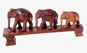 souvenir ornaments elephants elephant woodcarving decoration