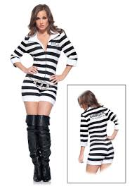 Halloween Jail Costumes Womens Jailbird Costume Halloween Costumes