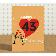 marriage anniversary greeting cards wedding anniversary greeting cards great 43rd wedding