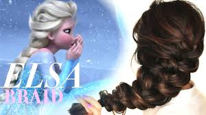 time to get messy hairstyles frozen elsa u0027s messy braid hair tutorial cute hairstyles youtube