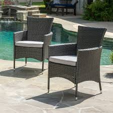 amazon com clementine outdoor multibrown pe wicker dining chairs