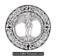 celtic tree tattoos design