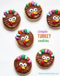 decorated cookies turkey cookies for thanksgiving dessert simple turkey cookies
