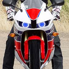 kt headlight fits for honda cbr600rr 2013 2015 led angel eyes blue