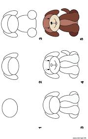 Coloriage dessin facile a faire un chien  JeColoriecom