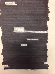 beautiful doodle and blackout poetry suzen art