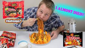 Dies From Challenge Spicy Korean Noodle Ramen Challenge Nuclear Noodle
