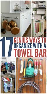 17 genius towel bar organization hacks