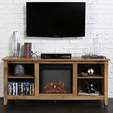 Amazon Fireplace Tv Stand by Amazon Com Driftwood Tv Stand With Fireplace Insert For Tvs Up To