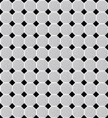 shapes octagon matt white black dot mosaic tile topps tiles