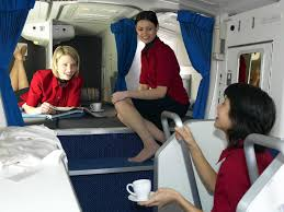 bedrooms flight attendants use on long haul aircraft business