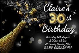 personalised black u0026 gold champagne burst birthday party