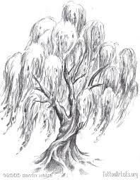 tree designs for pin weeping willow tree