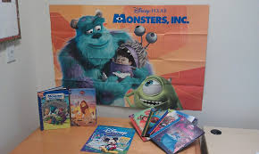 4 disney books monsters poster disney activity book
