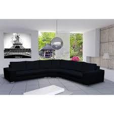 canapé d angle 9 places canapé d angle design 6 places cari noir achat vente canapé