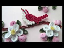 paper quilling birds tutorial quilled bird and apple blossoms youtube quilling aves 2