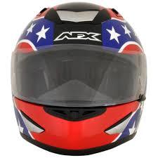 Rebel Flag Gear Afx Fx 95 Rebel Flag Mens Motorcycle Helmets