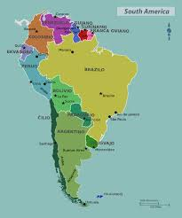 United States Map With State Names And Capitals by Map Of South America With Capitals My Blog