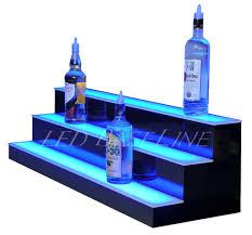 led lighted bar shelves 40 led lighted bar bottle rack shelves remote color changing