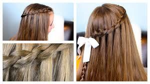 tutorial rambut waterfall the waterfall braid