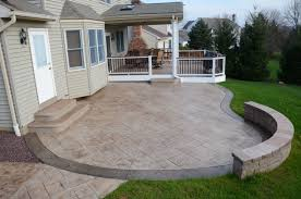Brick Stone Patio Designs by Home Decor Brown Stone Stained Concrete Patio Floor With Red