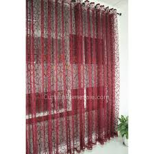 Cool Curtains Burgundy Lace Curtain With Cool Patterns Sheer Curtain