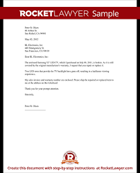 Financial Warranty Letter warranty repair request letter create a free template with sle