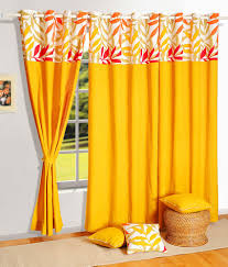 Yellow Window Curtains Beige Grey Viscose Polyester Eyelet Door Curtain Sibi Hari