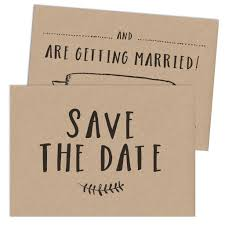 Save The Date Cards Kraft Write Your Own Save The Date Card U2013 Russet And Gray