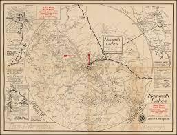 Mammoth Map A Circle Of Enchantment Mammoth Lakes Mono County Cal The