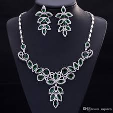 diamond necklace sets images Luxury 5a cz diamond jewelry sets earring necklaces sets for women jpg