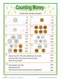 practice test counting money worksheet education com