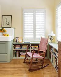 retro kitchen redo this old house rocking chair in area with