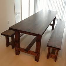 Tables With Bench Seating 40 Diy Farmhouse Table Plans U0026 Ideas For Your Dining Room Free