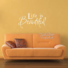 aliexpress com buy life is beautiful quote wall sticker life