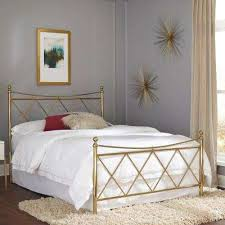 Bedframe With Headboard Bronze Beds Headboards Bedroom Furniture The Home Depot