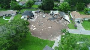 sinkhole rapidly grows swallows central florida homes youtube