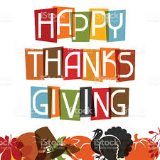 happy thanksgiving clipart free happy thanksgiving day card design with holiday objects stock