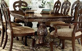 homelegance deryn park double pedestal dining table cherry 2243