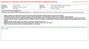 Electrician Job Description For Resume by Machine Tool Electrician Cv Work Experience Samples