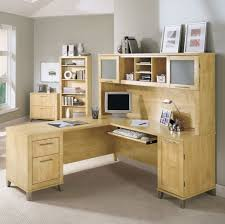 Under Desk Pull Out Drawer Furniture Chic L Shaped Computer Desk With Hutch Featuring