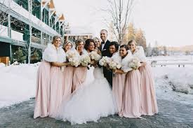 fur shawls for bridesmaids blush winter wedding yahoo image search results