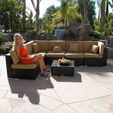 Aluminum Wicker Patio Furniture - 7pc outdoor patio rattan wicker furniture aluminum sectional sofa