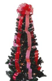 candy cane christmas tree topper bow darling chic design