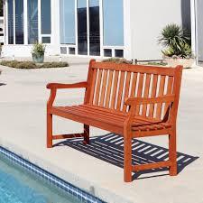 vifah baltic 5 ft eucalyptus wood garden bench v023 1 the home
