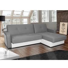 canapé angle gris blanc canapé angle réversible et convertible en pvc gris et blanc kair