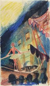 august macke tightrope walker i seiltänzer i 1913 14